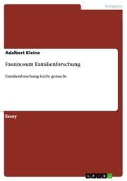 Faszinosum Familienforschung