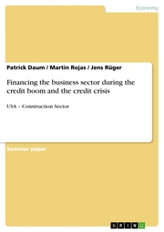 Financing the business sector during the credit boom and the credit crisis