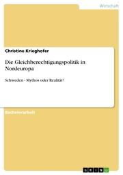 Die Gleichberechtigungspolitik in Nordeuropa