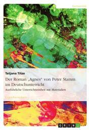 Der Roman 'Agnes' von Peter Stamm im Deutschunterricht