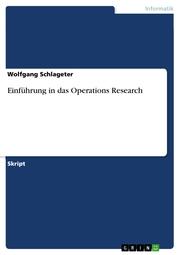 Einführung in das Operations Research