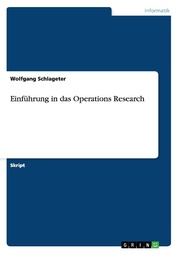 Einführung in das Operations Research - Cover
