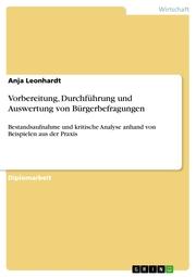Vorbereitung, Durchführung und Auswertung von Bürgerbefragungen - Cover