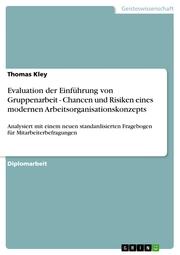Evaluation der Einführung von Gruppenarbeit - Chancen und Risiken eines modernen Arbeitsorganisationskonzepts