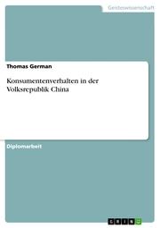 Konsumentenverhalten in der Volksrepublik China