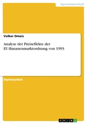 Analyse der Preiseffekte der EU-Bananenmarktordnung von 1993