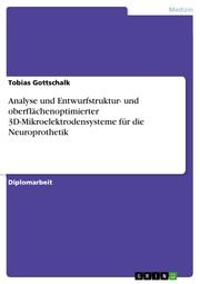 Analyse und Entwurfstruktur- und oberflächenoptimierter 3D-Mikroelektrodensysteme für die Neuroprothetik