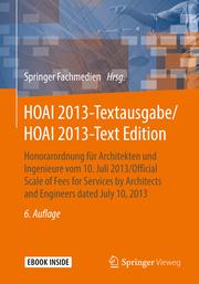 HOAI 2013-Textausgabe/HOAI 2013-Text Edition