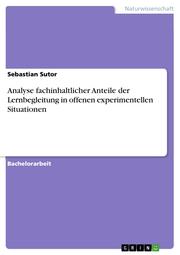 Analyse fachinhaltlicher Anteile der Lernbegleitung in offenen experimentellen Situationen