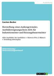 Herstellung eines Außengewindes. Ausbildereignungschein ADA für Industriemeister und Heizungsbauermeister
