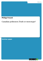Canadian politeness. Truth or stereotype? - Cover