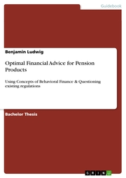 Optimal Financial Advice for Pension Products
