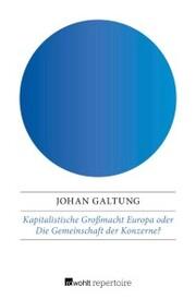 Kapitalistische Großmacht Europa oder Die Gemeinschaft der Konzerne?