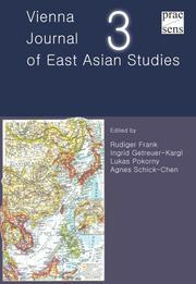Vienna Journal of East Asian Studies