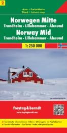 Norwegen Mitte - Trondheim - Lillehammer - Alesund, Autokarte 1:250.000
