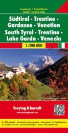 Südtirol - Trentino - Gardasee - Venetien, Autokarte 1:200.000
