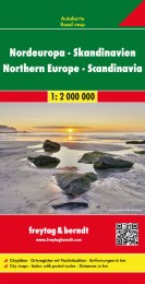 Nordeuropa - Skandinavien, Straßenkarte 1:2 Mio.