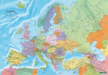 Europa politisch, Poster 1:6 Mio., Plano in Rolle