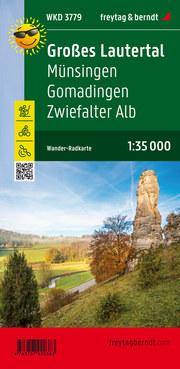 Großes Lautertal, Münsingen, Gomadingen, Zwiefalter Alb, Wander + Radkarte 1:35.000