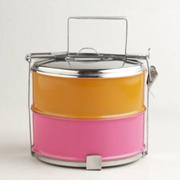 Karma Dabba-Box orange & rosa