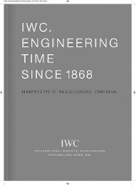 IWC Schaffhausen: Engineering Time since 1868 - Cover