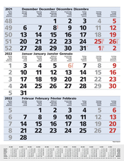 3-Monats-Planer Comfort Blau 2022