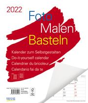Foto-Malen-Basteln Bastelkalender weiß Notice groß 2022