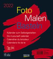 Foto-Malen-Basteln Bastelkalender schwarz 2022