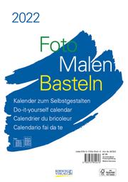 Foto-Malen-Basteln Bastelkalender A4 weiß 2022