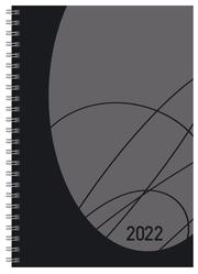 Buchkalender Wochentimer Flexi Colourlux schwarz 2022