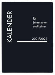 Kalender für Lehrerinnen und Lehrer PVC schwarz 2021/2022
