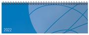 Tischquerkalender Professional Colourlux blau 2022