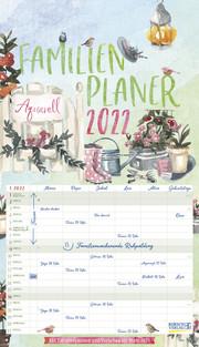 Familienplaner Aquarell 2022