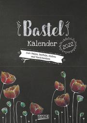 Bastelkalender Tafel A4 schwarz 2022