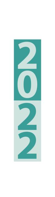 Streifenplaner Mini Türkis 2022