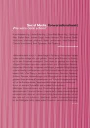 Social Media_Konversationskunst.Wie wärs denn schön?