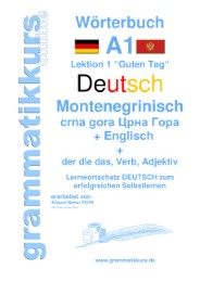 Wörterbuch Deutsch - Montenegrinisch - Englisch Niveau A1