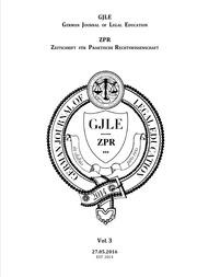 German Journal of Legal Education - 2016 - Vol. 3