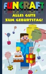 Funcraft - Alles Gute zum Geburtstag! Für Minecraft Fans (inoffizielles Notizbuch)