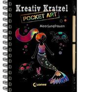 Kreativ-Kratzel Pocket Art: Meerjungfrauen