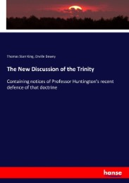The New Discussion of the Trinity