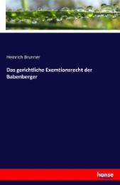 Das gerichtliche Exemtionsrecht der Babenberger