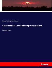 Geschichte der Dorfverfassung in Deutschland
