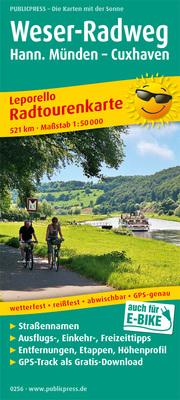 Weser-Radweg, Hann. Münden - Cuxhaven