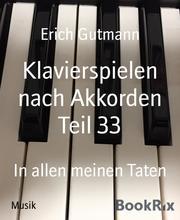Klavierspielen nach Akkorden Teil 33