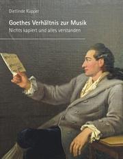 Goethes Verhältnis zur Musik