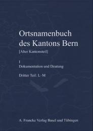 Ortsnamenbuch des Kantons Bern I