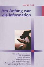 Am Anfang war die Information - Cover