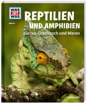 Amphibien und Reptilien - Gecko, Grasfrosch und Waran
