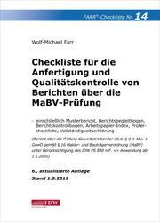 Checkliste für die Anfertigung und Qualitätskontrolle von Berichten über die MaBV-Prüfung